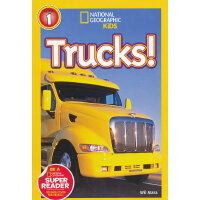 National Geographic Readers,Level 1: Trucks 美国《国家地理》杂志-儿童科普分