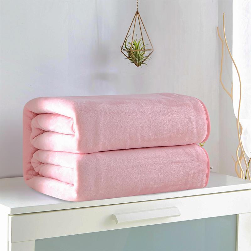 念羽NIANYU 素色珊瑚绒法兰绒毛毯办公毯空调毯车载盖