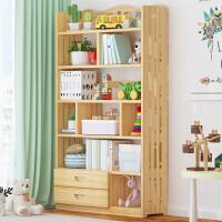 实木书架置物架落地简约儿童书柜桌上多层省空间学生家用客厅收纳