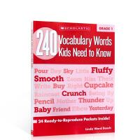 英文原版进口 Scholastic学乐出版 240 Vocabulary Words Kids Need to Kno