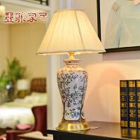 墨菲欧式台灯创意时尚现代中式卧室床头陶瓷手绘家居装饰灯具