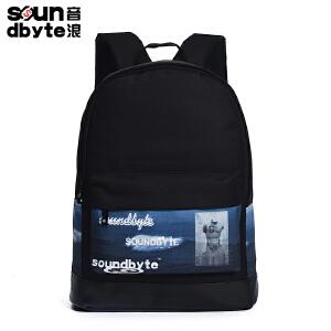 【支持礼品卡支付】soundbyte韩版学院风双肩包男女帆布电脑背包书包