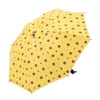 小清新雨伞女新款学生黑胶遮阳伞折叠太阳伞定制logo印广告伞