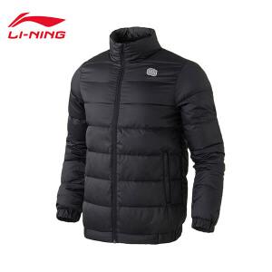 李宁短羽绒服男士篮球系列保暖立领轻质90%白鸭绒运动服AYMM193