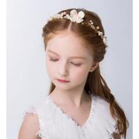 瓷花水钻发箍六一新款女童饰品新年水晶头箍儿童发箍头饰花童头饰婚纱发饰配饰