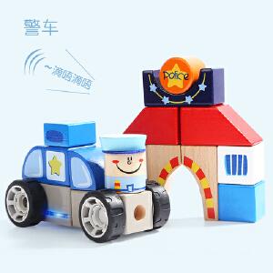 [当当自营]特宝儿1岁宝宝警察局发声积木拼搭婴幼儿拼装积木玩具150175
