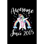 预订 Awesome Since 2005: Dabbing Unicorn Journal Girls Kids W