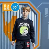 361童装 男童长袖套头卫衣2021春季新品中大童儿童运动休闲上衣N52033305