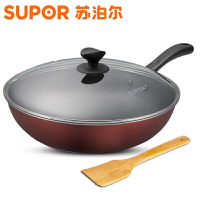 苏泊尔(supor)炒锅   30CM炫彩易洁不粘炒锅 少油烟不生锈炒锅明火燃气专用PC30S3
