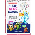 Sight Word Songs Flip Chart & CD 学乐儿童启蒙学习教学地板书 活动挂图 附CD 韵文童