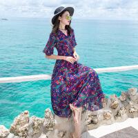 巴厘岛沙滩裙女夏2017新款泰国海边度假长裙2018海滩裙连衣裙显瘦