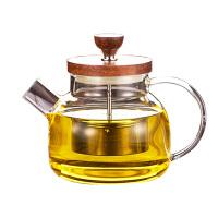 泡茶壶竹盖红茶普洱蒸茶器功夫茶具玻璃煮茶壶花茶壶