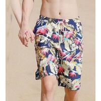 情侣同款泳衣男士泳裤男平角五分温泉大码泳裤游泳沙滩温泉游泳裤 支持礼品卡