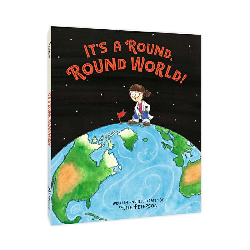 """地球为什么是圆的It's a round, round world! 英文原版正版绘本,美国少年图书馆协会选书,美国科学教师创作的科普绘本,用活泼有趣的形式告诉孩子关于""""地球是圆的""""的丰富知识,穿越历史,进入太空,培养孩子独立思考的科学精神"""