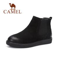 Camel/骆驼短靴 简约休闲套脚舒适磨砂短靴裸靴女靴