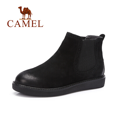 Camel/骆驼短靴 简约休闲套脚舒适磨砂短靴裸靴女靴秋季焕新 全场满59元包邮