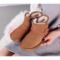 儿童雪地靴 男女童靴 -码秋冬加绒保暖防滑 皮靴子