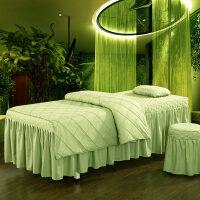 美容床罩四件套柔肤棉纯色按摩床spa美容院理疗床韩式简约定做