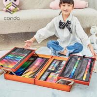 水彩笔套装儿童小学生36色绘画套装礼盒初学者手绘颜色笔彩色笔安全无毒24色画画笔幼儿园美术用品生日礼物