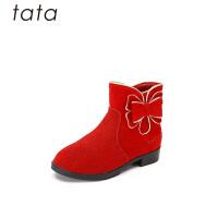 【159元任�x2�p】Tata他她童鞋女童休�e�R丁靴冬季新款中大童女孩�R丁靴