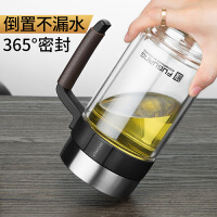 温便携过滤带盖水杯玻璃杯大容量双层泡茶杯子