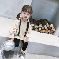 女童卫衣新款童装2018春秋款韩版宝宝秋装洋气儿童长袖上衣潮18001301B