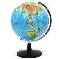 地球仪 32cm中国地形地貌PVC地球仪/带灯/教学用品/中英文塑料底座