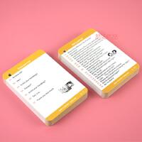 【新概念英语】第一二三四册课文单词卡片双语对照便携学习卡片
