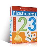 【顺丰包邮】英文原版 学乐启蒙认知数字学习字卡抽认闪卡 Scholastic Flashcards 123 2-6岁低