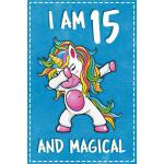 预订 Unicorn B Day: I am 15 & Magical Unicorn birthday fiftee