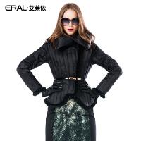 ERAL/艾莱依波浪纹短款收腰修身羽绒服长袖女修身2020C