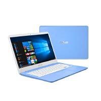 华硕(ASUS) E406MA 14英寸商务时尚轻薄学生办公笔记本手提电脑 天蓝标清版( N4100 4G内存 128