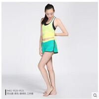 新款瑜伽服三件套运动短裤套装健身房女速干含胸垫 可礼品卡支付