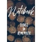 预订 Notebook Things to Remember [ISBN:9781078216258]