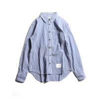 衬衫男学生春秋小清新格子立领衬衫韩版休闲潮流男士宽松条纹长袖衬衣外套潮
