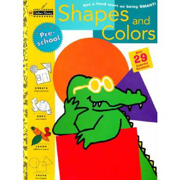 Shapes and Colors (Pre-school, Little Golden Book) 形状和颜色(金色童书,学龄前练习册)ISBN 9780307235565