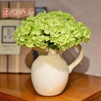 墨菲欧式仿真花艺套装摆件冰裂釉陶瓷客厅酒柜软装饰品现代插花瓶
