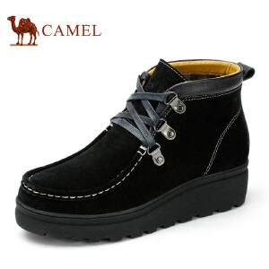 Camel骆驼女鞋 秋季新款女士鞋 时尚日常休闲坡跟女鞋