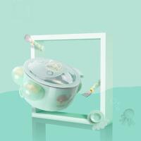 儿童餐具套装不锈钢防摔吸盘碗保温碗宝宝辅食碗婴儿勺