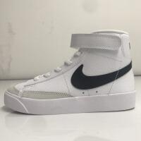 Nike耐克 儿童中童鞋高帮开拓者运动鞋白色休闲板鞋DA4087-100