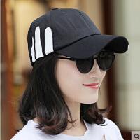 帽子女 男士棒球帽鸭舌帽休闲百搭韩版潮情侣白色太阳帽遮阳帽