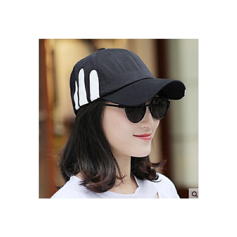 帽子女 男士棒球帽鸭舌帽休闲百搭韩版潮情侣白色太阳帽遮阳帽 品质保证 售后无忧 支持货到付款