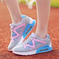 【货到付款】领舞者女鞋2016新款女跑步鞋透气增高慢跑鞋运动鞋女