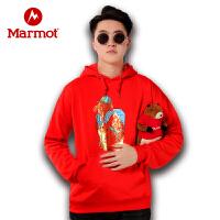 【开学季】Marmot/土拨鼠户外运动男女中性休闲金鼠带帽时尚情侣卫衣
