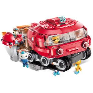 启蒙海底小纵队积木 儿童拼装玩具5男孩拼插益智模型女孩7-8-10岁3705