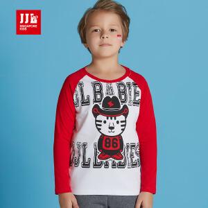 季季乐童装男童长袖T恤卡通图案纯棉上衣a类BQT63072