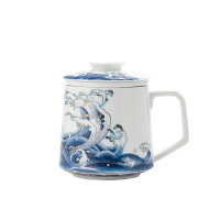 陶瓷泡茶杯�^�V茶水分�x杯�k公室杯子喝茶杯花茶�V茶杯