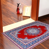 【两条装】欧式复古风格客厅地垫卧室婚房床尾吸水防滑茶几地毯可水洗