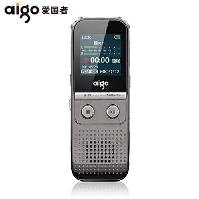 【限时抢购】爱国者(aigo)录音笔R5522 16G线性远距离录音笔 高清降噪 声控MP3大外放 R5522/16G屏幕显示;数字降噪技术,内置高保真扬声器