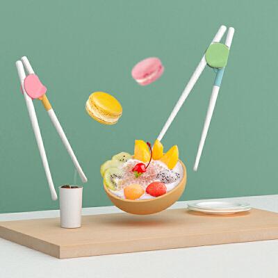 儿童筷子家用小孩训练筷二段宝宝学习筷男女孩辅助矫正学吃饭的筷